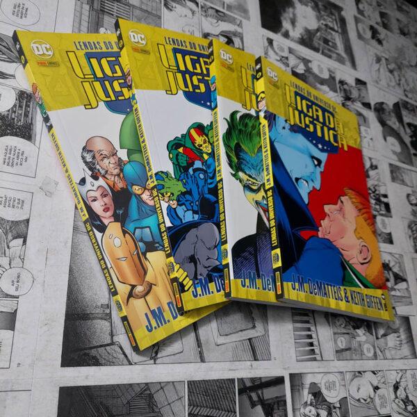 Lendas do Universo DC - Liga da Justiça - Vol.1 ao 4 (Lote 114)